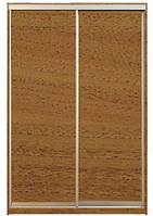 Шкаф-купе Алекса 220х45x160 Орех лесной фасады ДСП профиль Серебро