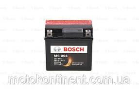 Мото аккумулятор BOSCH M6 AGM  ПРАВ [+] 12V 4AH 80A 114x71x106 Bosch 0092M60040 ( ETX5L-BS = YTX5L-BS)