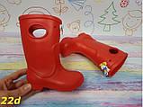 Детские резиновые сапоги непромокаемые красные 20\21, 22\23 р. (22d), фото 3