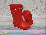 Детские резиновые сапоги непромокаемые красные 20\21, 22\23 р. (22d), фото 2