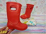 Детские резиновые сапоги непромокаемые красные 20\21, 22\23 р. (22d), фото 4