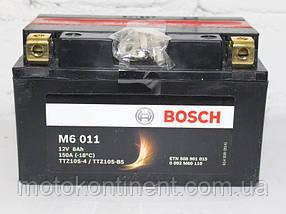 Мото аккумулятор BOSCH M6 AGM  Левый [+] 12V 8AH 150A 150x88x93 Bosch 0092M60110 ( ETZ10-BS/ YTZ10-BS/ TTZ10S)