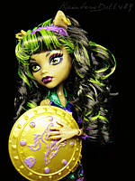 Кукла Monster High Клодин Вульф (Clawdeen Wolf - Wonder Wolf) из серии Супергерои Монстр Хай