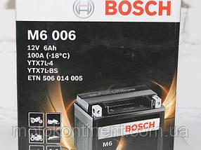 Мото аккумулятор BOSCH M6 AGM  ПРАВ [+] 12V 6AH 100A 113x70x130 Bosch 0092M60060 ( ETX7L-BS = YTX7L-BS))