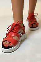 Боссоножки женские красные AAA 98-26, фото 1