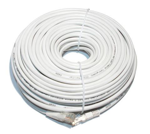 Патч-корд 30 м, UTP, White, Cablexpert, литой, RJ45, кат.5е, витая пара, сетевой кабель для интернета, фото 2