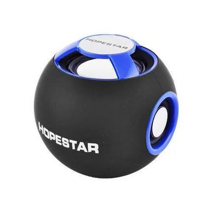 Портативная Bluetooth колонка Hopestar H46 Синяя, фото 2