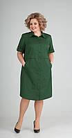 Платье Elga-641/4 белорусский трикотаж, зеленый, 58