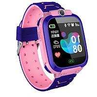 Детские смарт-часы S12 с камерой и Gps Розовые