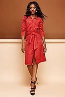 Красное платье кардиган на пуговицах (S, M)