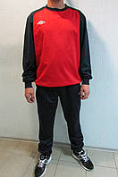 Мужской спортивный костюм Umbro 353113 красно-синий тренировочный код 321 б