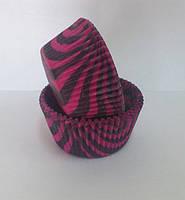 """Форма для маффинов """"розовая зебра""""(код 00446)"""