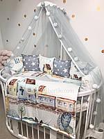 Комплект бортиков в детскую кроватку  «boy»