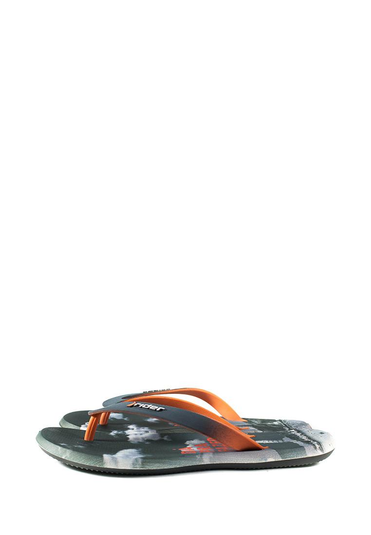 Вьетнамки мужские Rider 10719-24097 серо-оранжевые (43)
