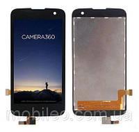 Дисплей (LCD) LG K130 K4   VS425 с тачскрином чёрный