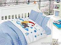 Комплект постельного белья в кроватку First Choice Satin Bamboo детский сатин арт.Sleeper Mavi