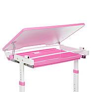 Парта детская BAMBI M 3230(2)-8 розовая с выдвижным ящиком, фото 5