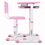 Парта детская BAMBI M 3230(2)-8 розовая с выдвижным ящиком, фото 2