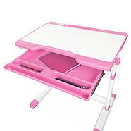Парта детская BAMBI M 3230(2)-8 розовая с выдвижным ящиком, фото 4