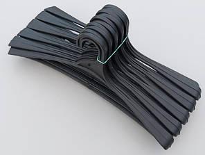 Довжина 41,5 см. Вішаки пластмасові Гем-2 чорні, 10 штук в упаковці