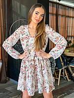 Платье свободного кроя из мультишифона Ксения, фото 1