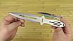 Ножи метательные набор (3 в 1). Длина 230mm. Клинок с защитным покрытием . Сталь м420 не ржавеет, не ломается*, фото 4
