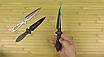 Ножи метательные набор (3 в 1). Длина 230mm. Клинок с защитным покрытием . Сталь м420 не ржавеет, не ломается*, фото 5