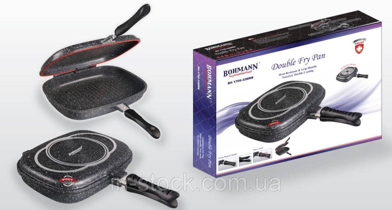 Сковорода-гриль двостороння Bohmann BH 1700-32 MRB