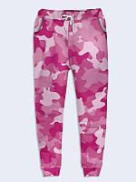 Женские  Брюки Розовый камуфляж