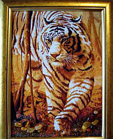 """Картина из янтаря """" Тигр """""""