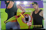 Майка для занятий спортом SWEAT SLIM VEST топ шейпер , корректирующий корсет, фото 2
