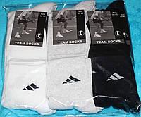 Носки мужские спортивные в стиле Adidas 42-45 размер,белые,серые,черные. 12 пар.