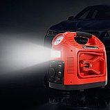 Автомобильный Компрессор насос HH 399 EMERGENCY POWER с фонариком и манометром, фото 3