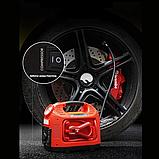Автомобильный Компрессор насос HH 399 EMERGENCY POWER с фонариком и манометром, фото 4