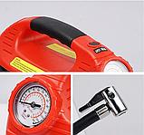 Автомобильный Компрессор насос HH 399 EMERGENCY POWER с фонариком и манометром, фото 6