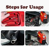 Автомобильный Компрессор насос HH 399 EMERGENCY POWER с фонариком и манометром, фото 7