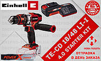 (Power X-Change) Шуруповёрт аккумуляторный ударный Einhell TE-CD 18/48 Li-i (4513926) 4.0 kit