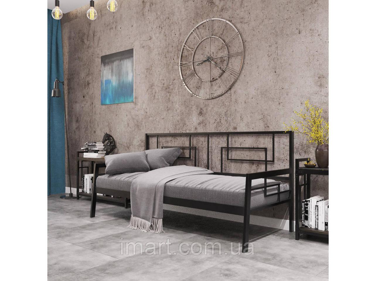 Кровать металлическая Диван Квадро  Loft Металл-Дизайн