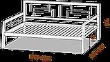 Кровать металлическая Диван Квадро  Loft Металл-Дизайн, фото 2