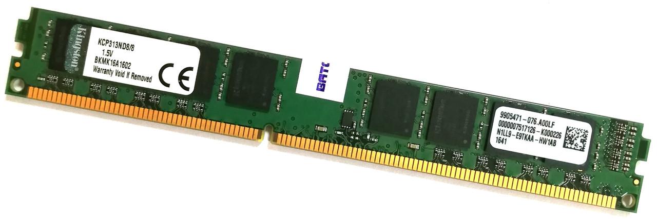 Оперативная память Kingston DDR3 8Gb 1333MHz PC3 10600U VLP CL9 (KCP313ND8/8) Б/У