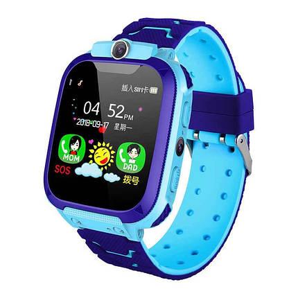 Смарт-часы S9 с Gps детские Синие, фото 2