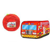 Палатка детская  пожарная машина (995-7052В)