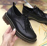 Женские туфли кожаные весна/осень черные Mkrafvt Т120, фото 1