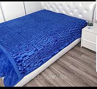 Плед-покрывало Норка Синий 210*230 см (двухсторонний)