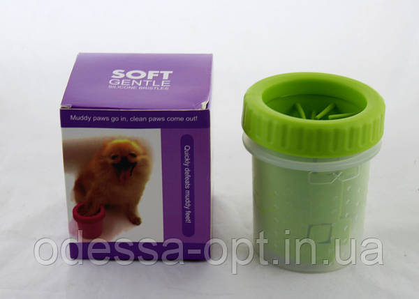 Стакан для мытья лап любимым питомцам Soft pet foot cleaner, фото 2