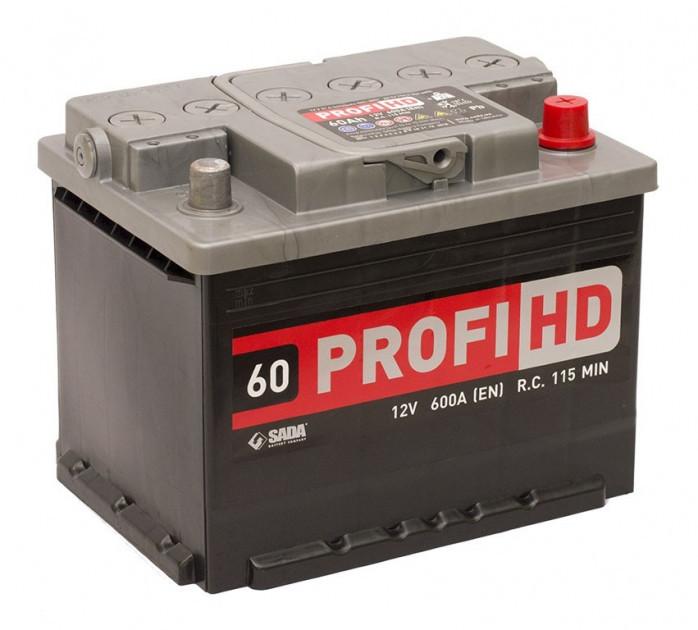 Автомобильный аккумулятор SADA PROFI HD 6СТ-60 Ач 12V 600 А R+ Украина