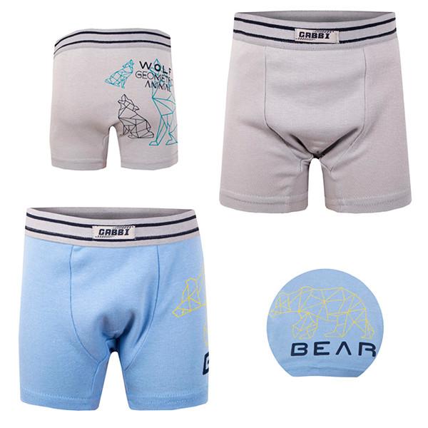 """Трусы-шорты для мальчика Габби 11254  р.32 """"Волк и медведь"""""""