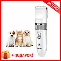 Машинка для стрижки животных Gemei GM-634 Собаки и Кошки +беспроводная + Подарок!