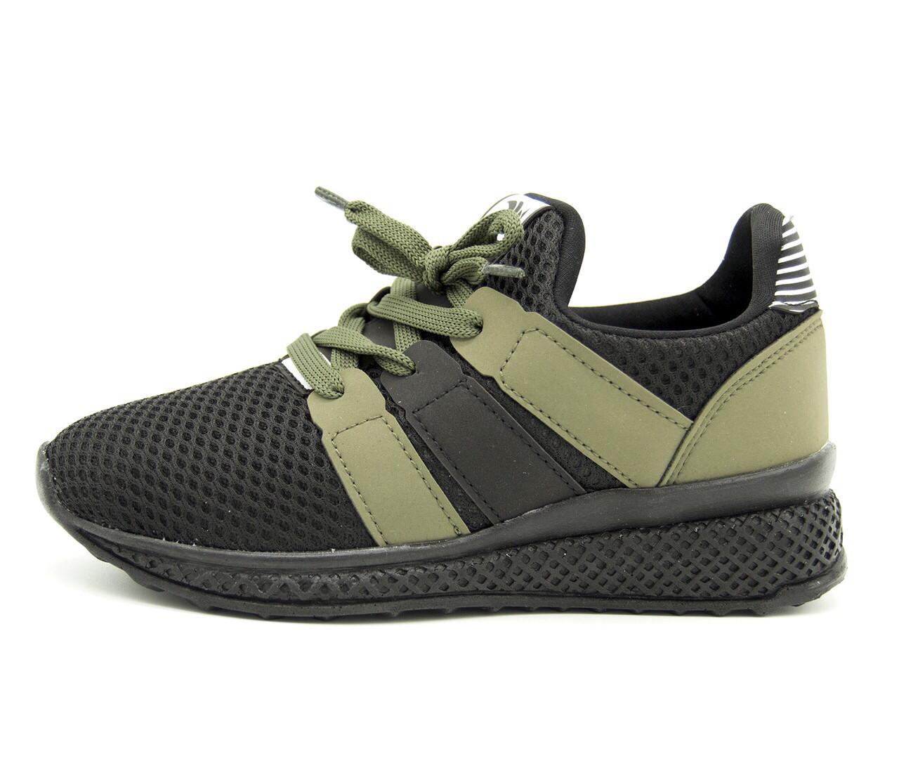 Кроссовки для мальчика Турция Черные-хаки Размер - 31 (20 см)
