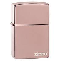 Зажигалка Zippo 49190ZL High Polish, Rose Gold logo, фото 1